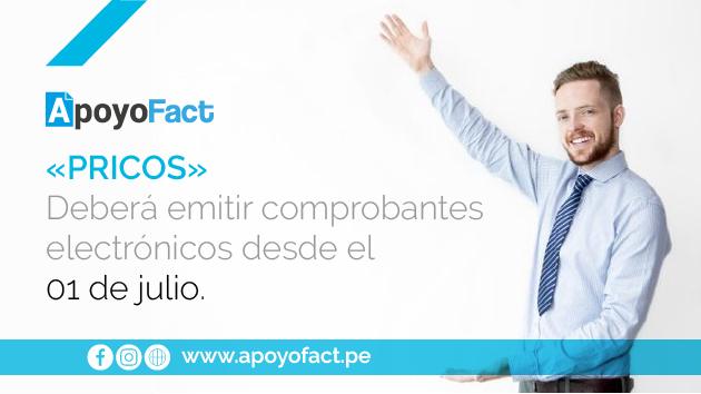 «PRICOS» deberá emitir comprobantes electrónicos desde el 01 de julio.