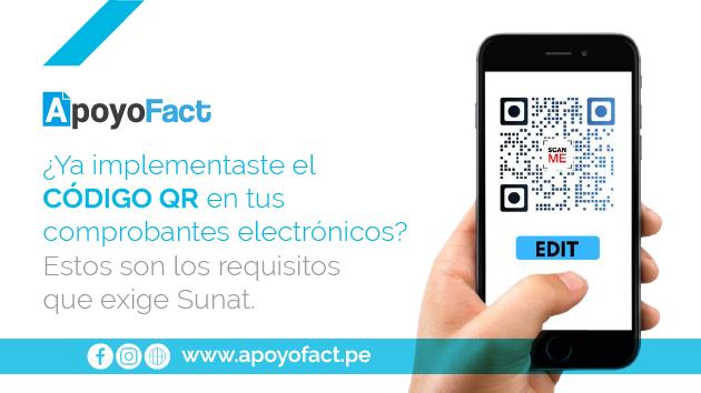 ¿Ya implementaste el Código QR en tus comprobantes electrónicos? Estos son los requisitos que exige Sunat.